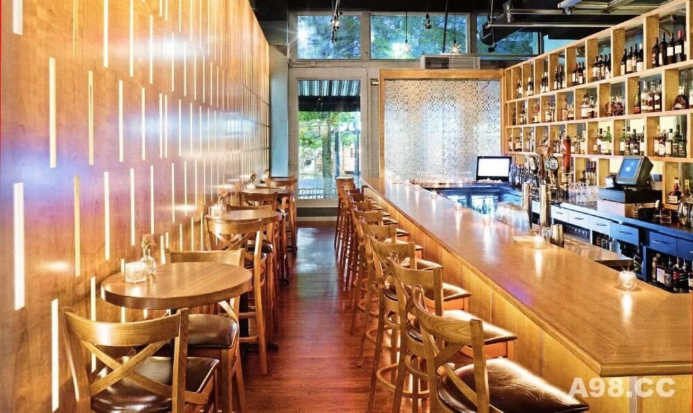 你见过格网式的酒吧设计吗?
