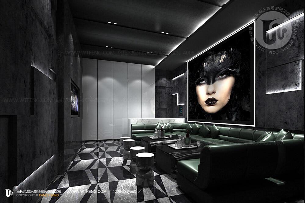 大型酒吧设计包房一效果图