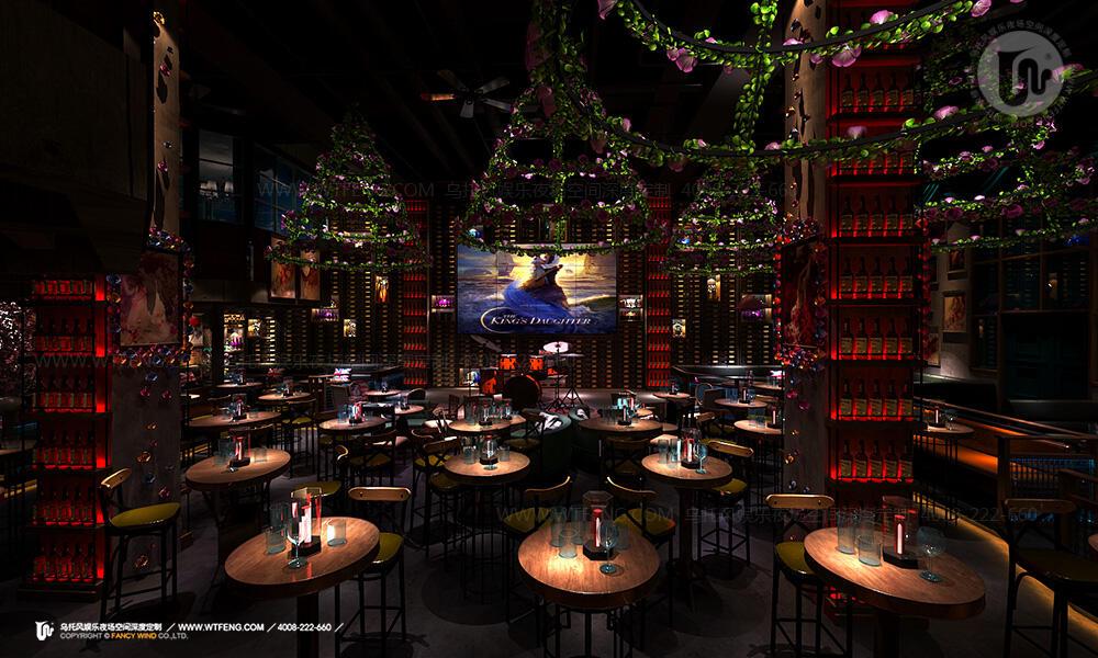 大型餐吧设计大厅效果图