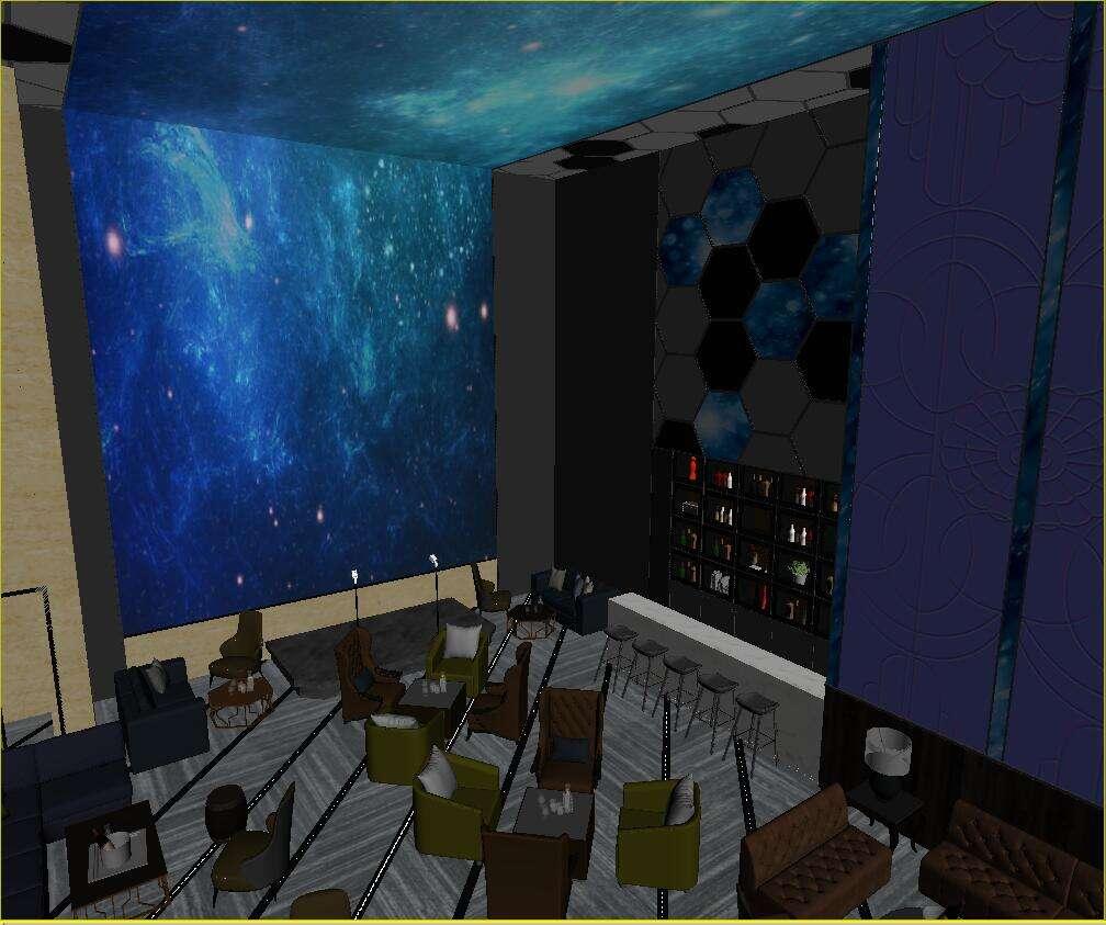 大型酒吧设计前厅接待模型图