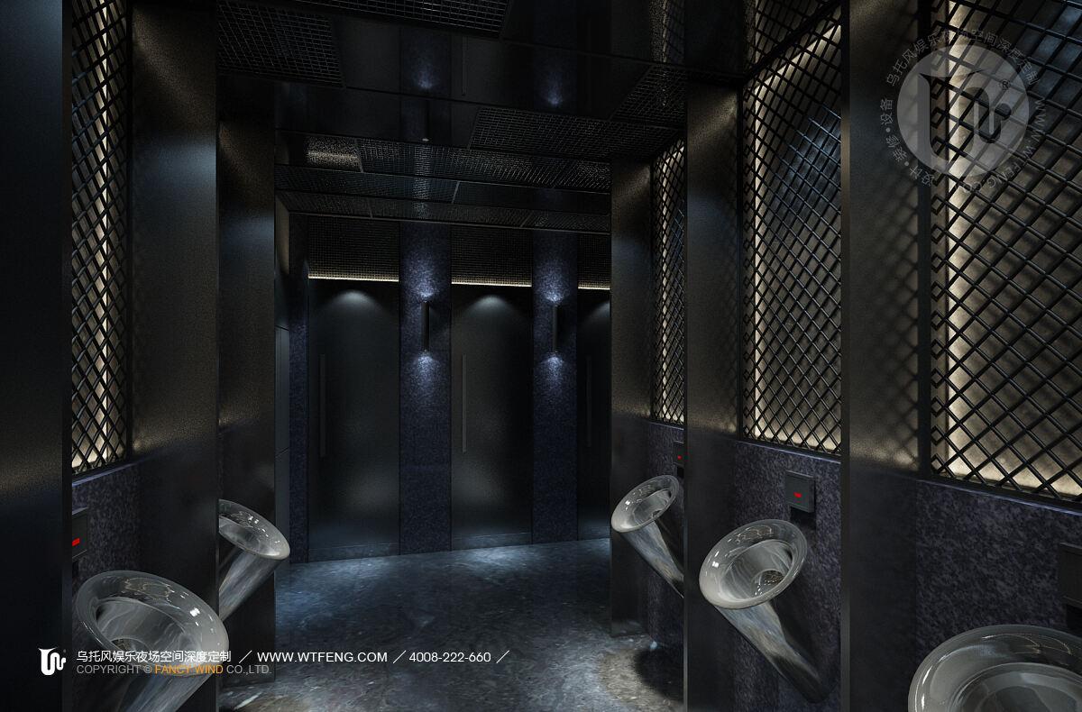 酒吧设计男卫生间效果图