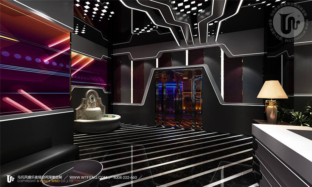 燕郊派对酒吧前厅设计
