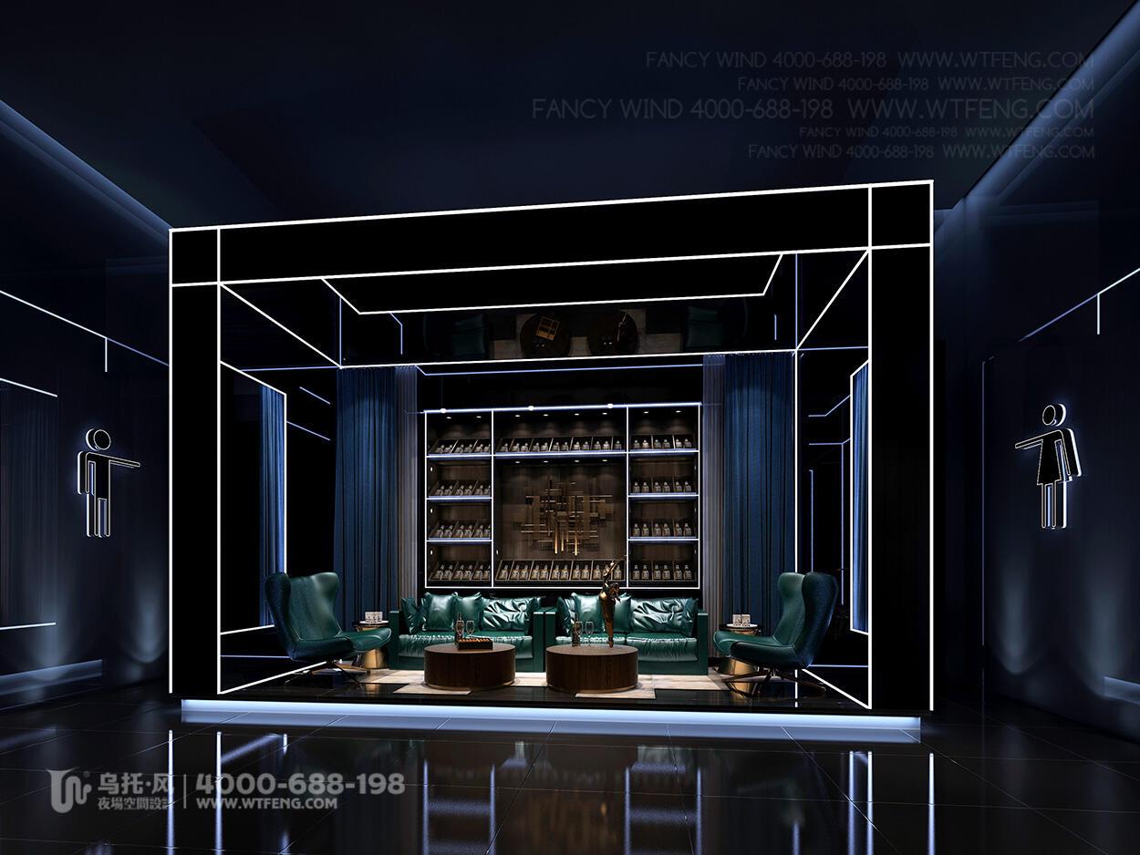 酒吧设计效果图-后休息区