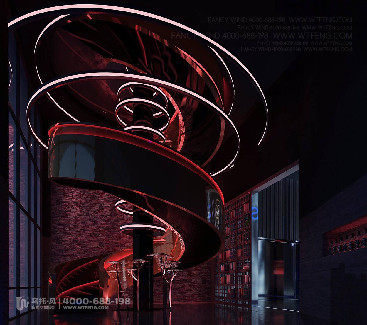 酒吧设计效果图-楼梯