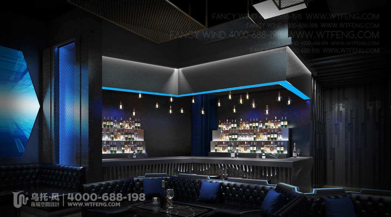 新疆WIOS CLUB酒吧设计效果图-吧台区