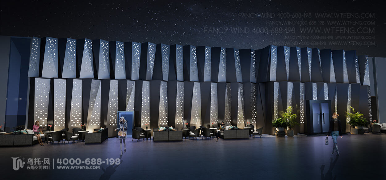 RANDA酒吧设计效果图-门头
