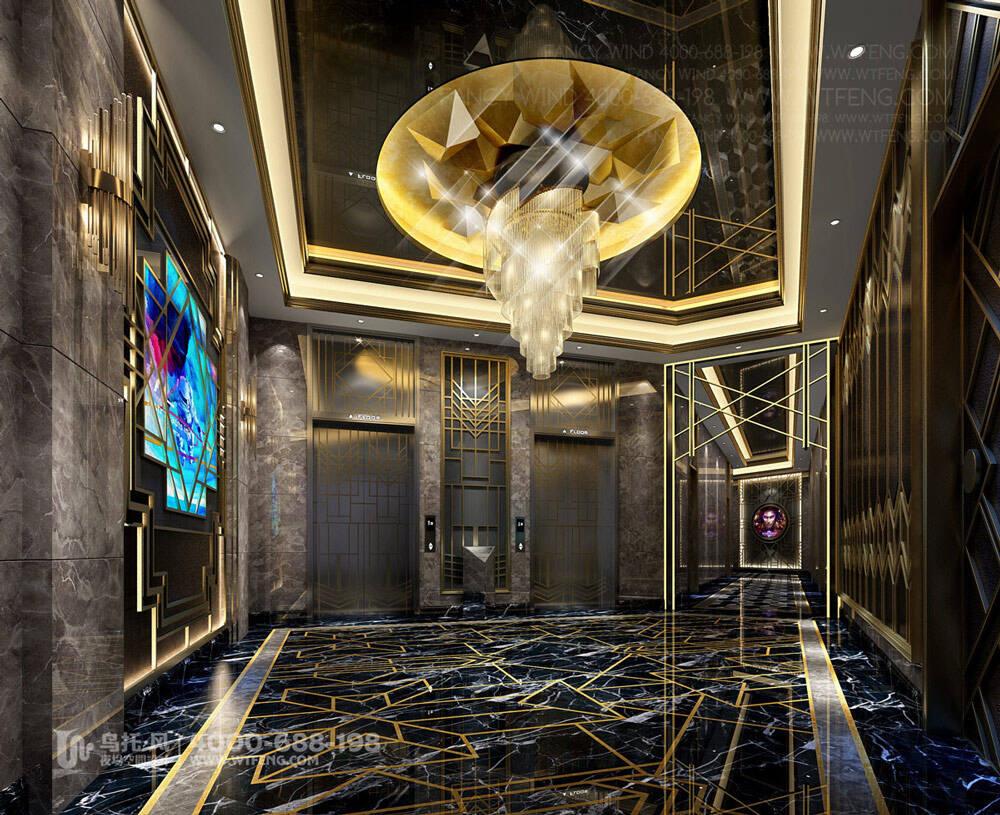 广西柳州迈阿密酒吧设计效果图-四层前厅