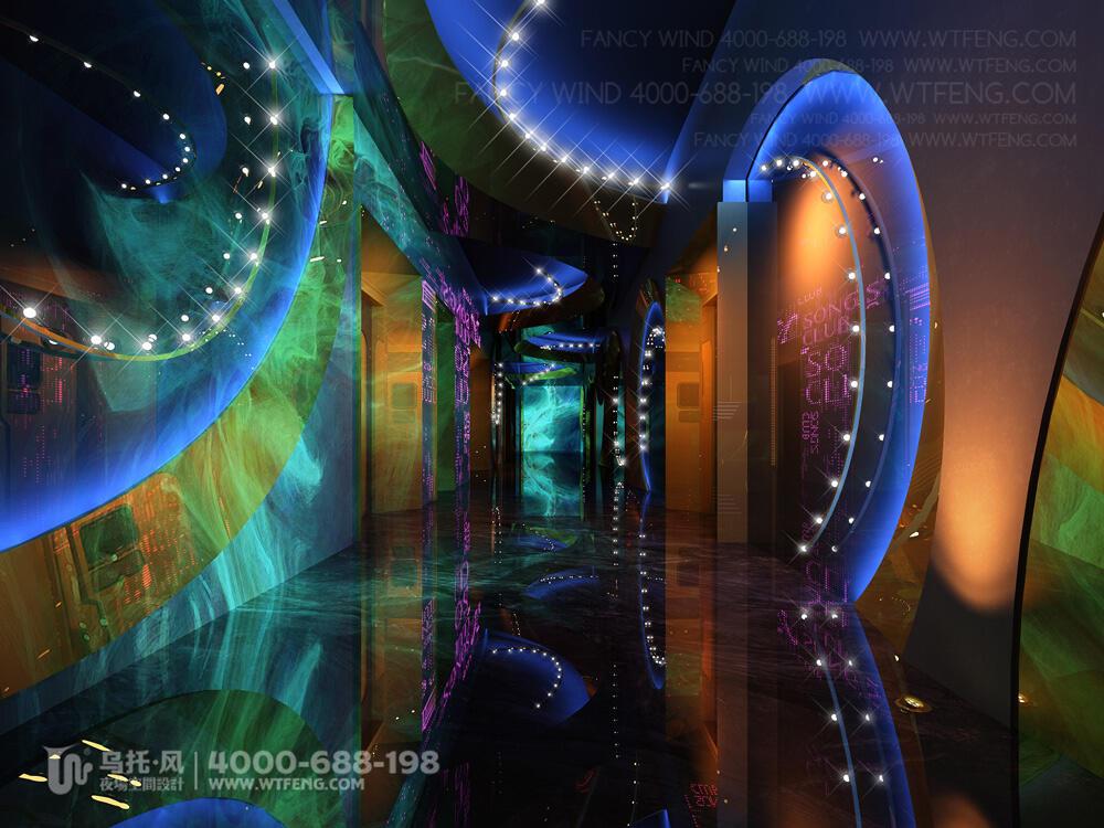 南宁 震CLUB酒吧设计效果图效果图-过道