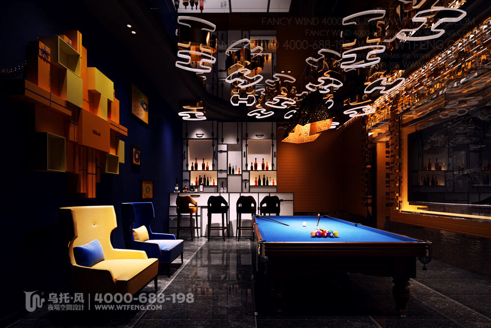 南宁 震CLUB酒吧设计效果图-包房3