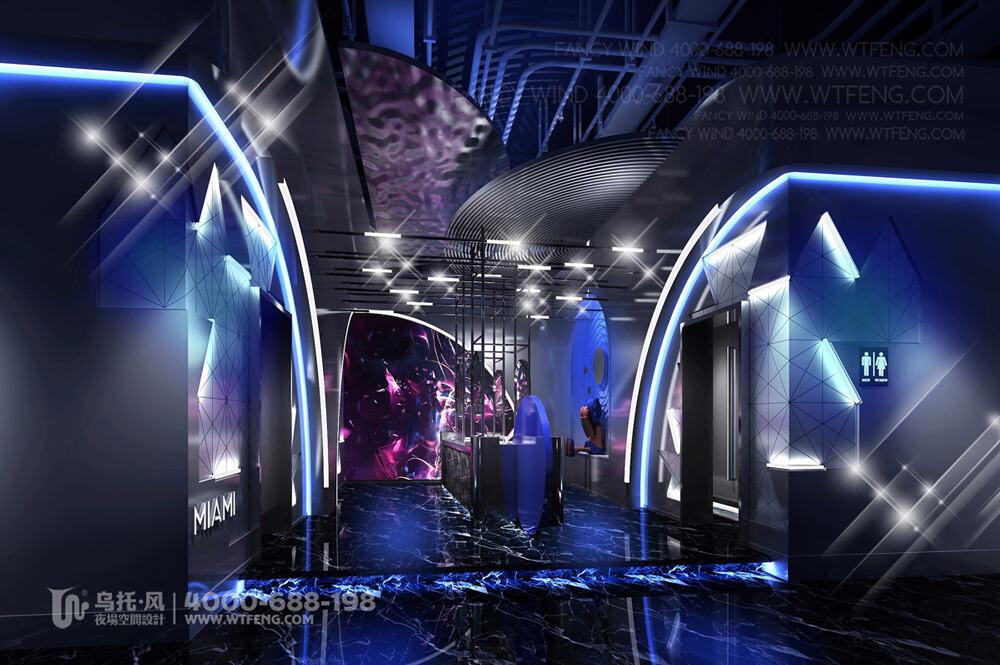 广西柳州迈阿密酒吧设计效果图-卫生间