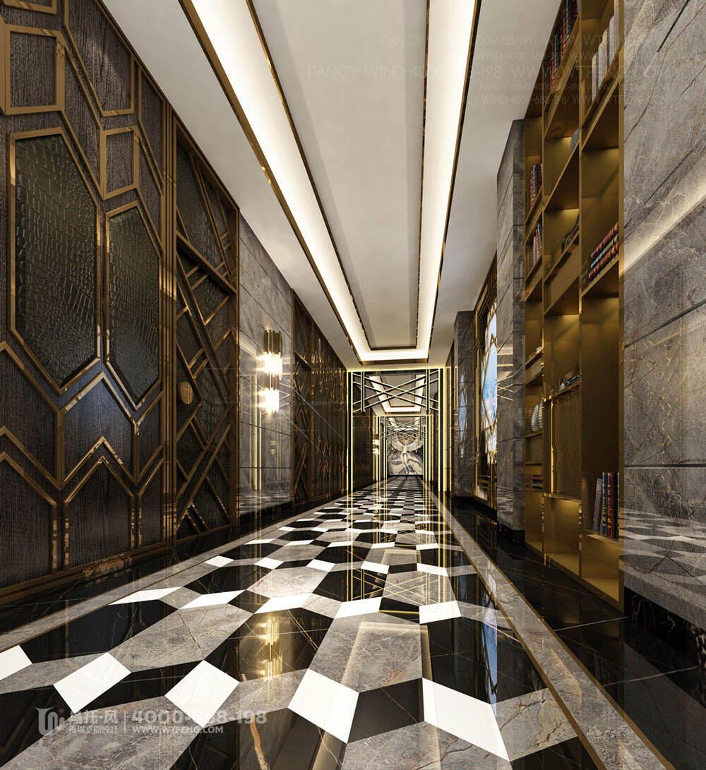 广西柳州迈阿密酒吧设计效果图-过道