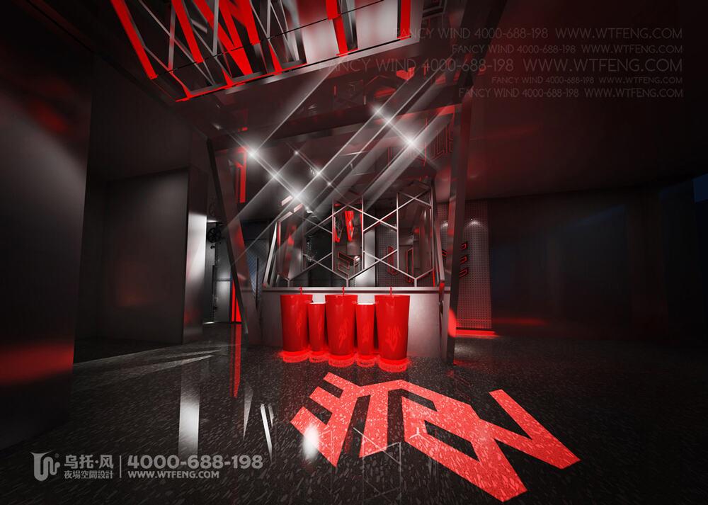 新疆阿克苏VISTE酒吧设计效果图-洗手台