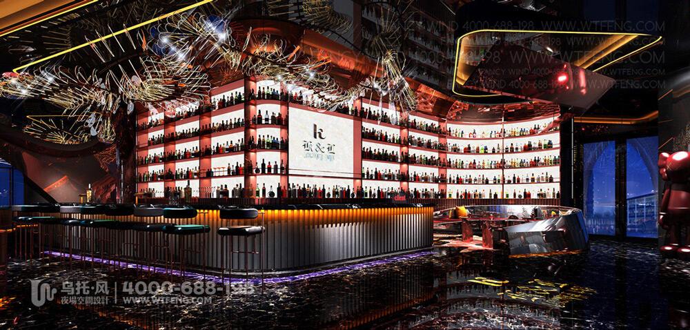 珠海K&L餐吧设计装修效果图-吧台区