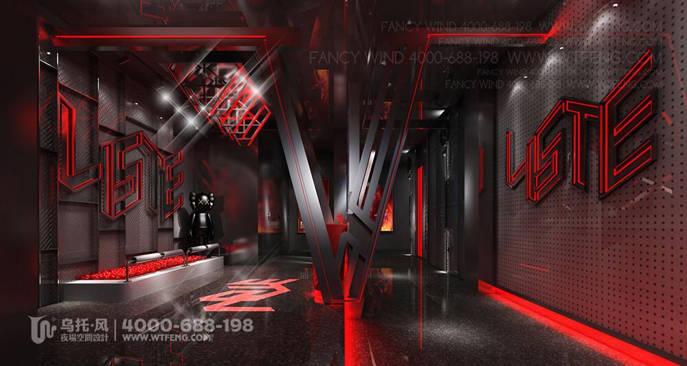 新疆阿克苏VISTE酒吧设计效果图-过道