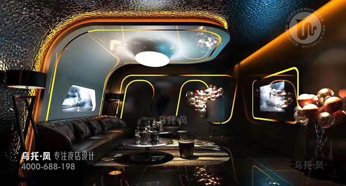 酒吧设计效果图-包房